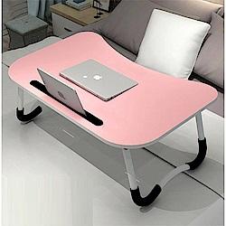 【日居良品】攜帶式簡約時尚床上電腦桌/摺疊桌/和式桌(附 I Pad 卡槽設計)