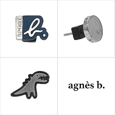 agnes b. 造型貼耳式單耳耳環(中性)