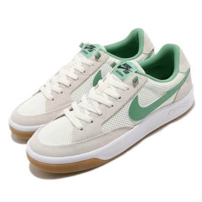 Nike 滑板鞋 SB Adversary 運動 男鞋 輕便 舒適 簡約 球鞋 穿搭 麂皮 米白 綠 CJ0887104