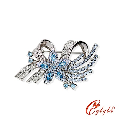 Cylyla思琳娜 璀璨奧地利水晶胸針B-8987G