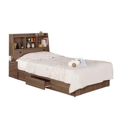 文創集 漢斯森3.5尺床台(二色可選+床頭箱+床底+側邊櫃)-106x211x104.5免組