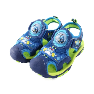 POLI波力款護趾防撞閃燈運動涼鞋 sa91106 魔法Baby