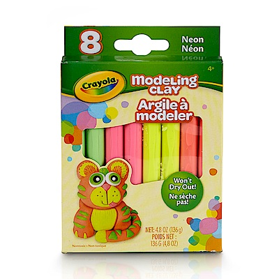 美國crayola 繪兒樂 造型黏土霓虹色4色(3Y+)