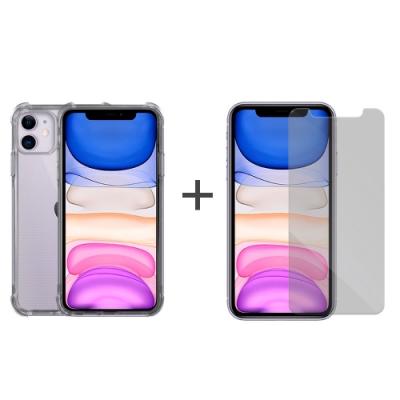Metal-Slim Apple iPhone 11 強化防摔抗震空壓手機殼+玻璃貼