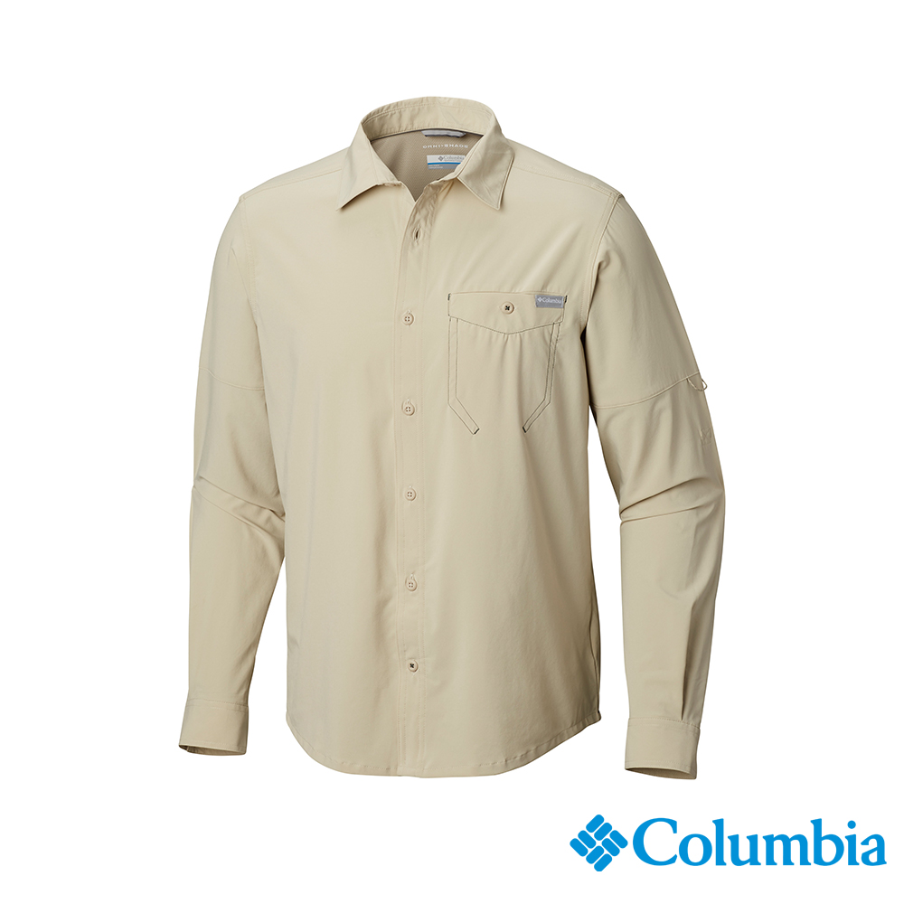 Columbia 哥倫比亞男款-UPF30快排長袖襯衫-卡其 UAM04330KI