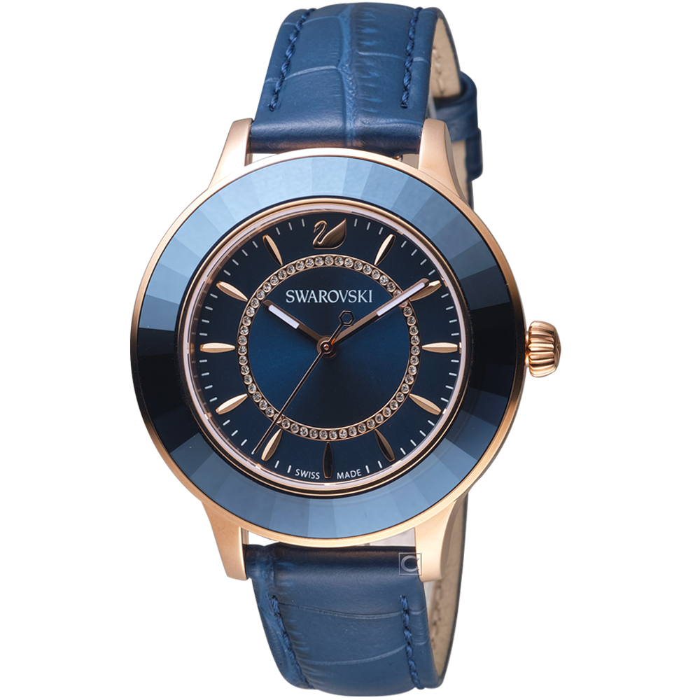 SWAROVSKI施華洛世奇Octea Lux現代時尚腕錶(5414413)-藍
