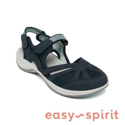 Easy Spirit-seESPLASH 繽紛舒適前包涼鞋-深藍