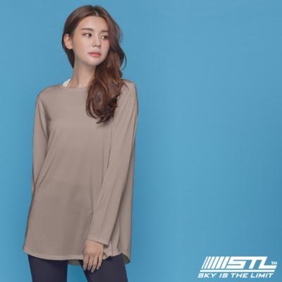 STL yoga ESSENCE HipCover loosefit LS 韓國瑜珈 運動機能 本質蓋臀長版寬鬆長袖上衣 拿鐵咖啡 CreamBeige