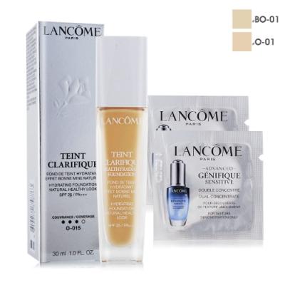 LANCOME 蘭蔻 超極光精華水粉底 SPF25/PA+++30ml贈肌因活性安瓶1mlX2