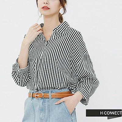 H:CONNECT 韓國品牌 -簡約復古感皮帶-棕