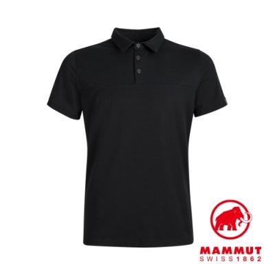 【Mammut 長毛象】Trovat Tour Polo Men 短袖排汗快乾POLO衫 黑色 男款 #1017-00031