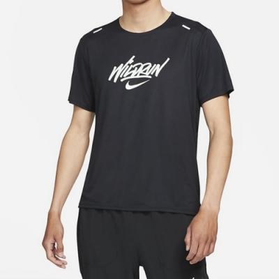 Nike RISE 365 SS WR GX 男短袖上衣-黑 -DA1169010