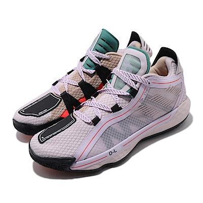 adidas 籃球鞋 Dame 6 運動 中筒 男鞋 NBA 紫 綠 Lillard FW4508