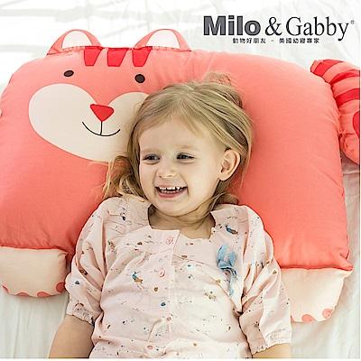 Milo&Gabby 動物好朋友-超細纖維防蹣大枕心+枕套組(LUCY松鼠)