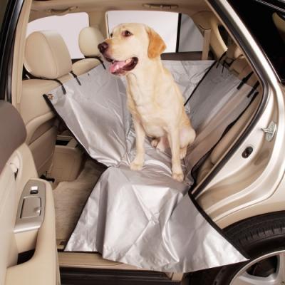 3D 新式車用寵物防護套 銀色