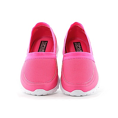 【TOP GIRL】優雅率性 記憶鞋墊運動休閒鞋-螢桃