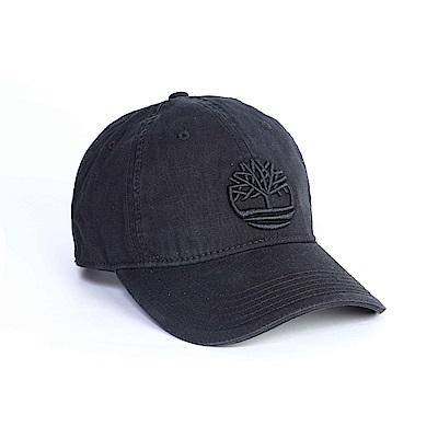 Timberland黑色刺繡斜織布棒球帽A1E9M001