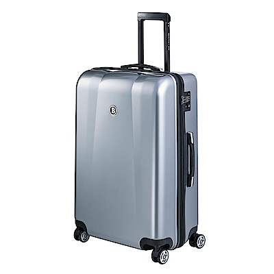 BENTLEY 28吋 PC ABS 蜂巢纹拉鍊款輕量行李箱 -銀