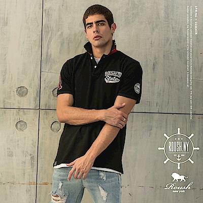 Roush #31美式立體貼布水洗POLO衫(3色)