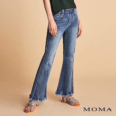 MOMA 水洗抽鬚喇叭褲