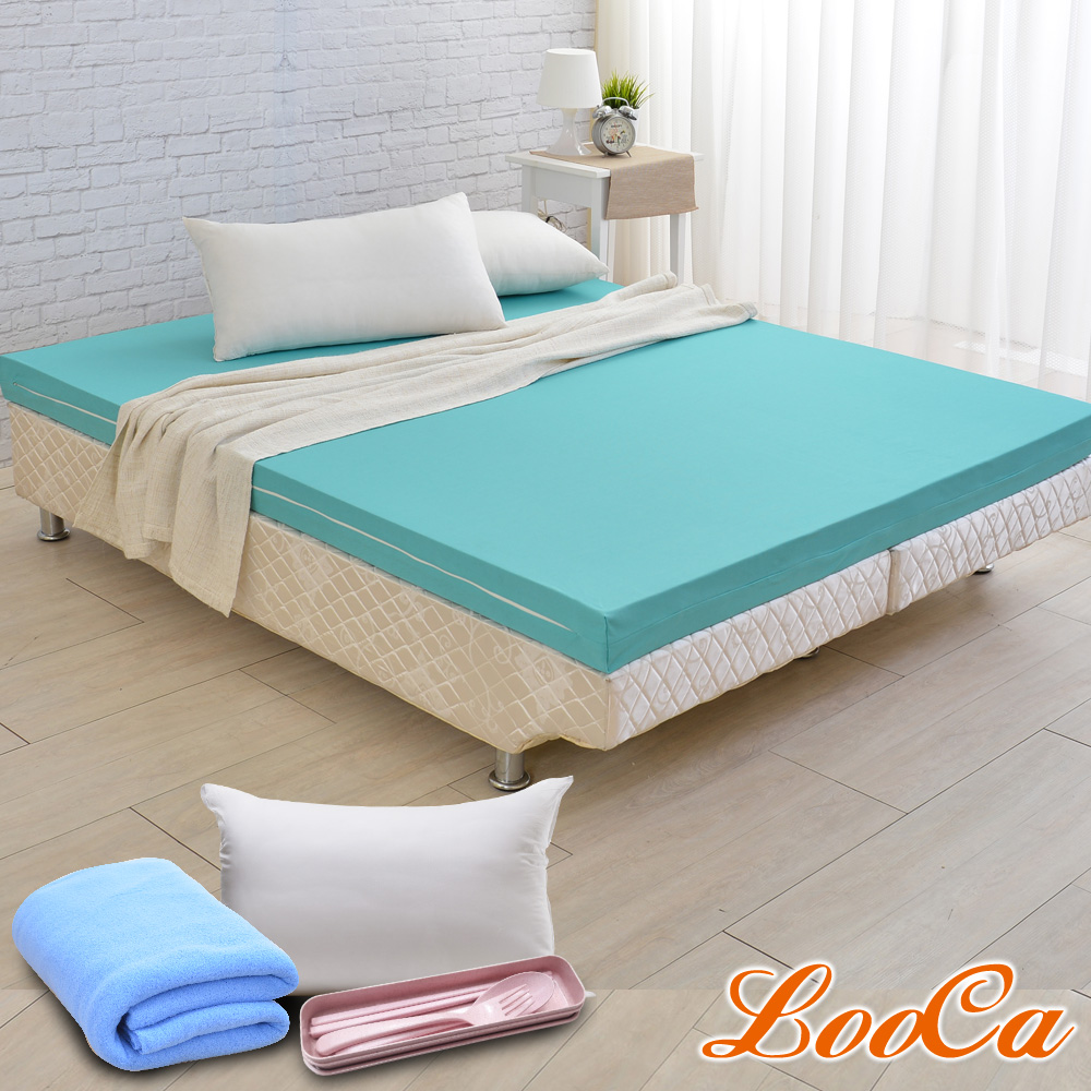 (開學組)LooCa 防蹣防蚊輕釋壓11cm床墊-雙人5尺