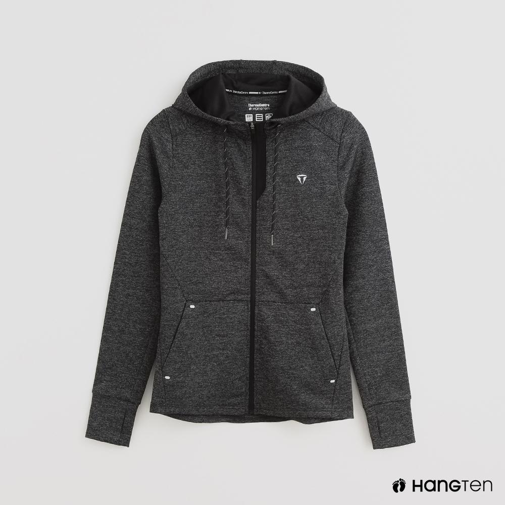 Hang Ten -女裝 - ThermoContro-時尚風連帽運動機能外套-灰