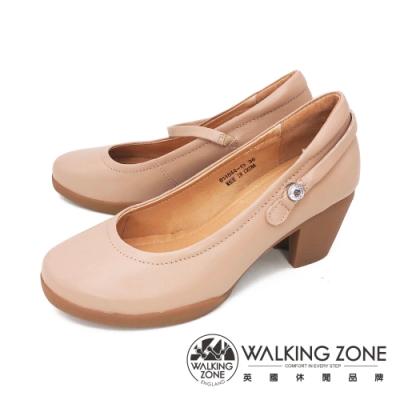 WALKING ZONE(女)復古瑪麗珍鞋 包鞋 高跟鞋 淑女鞋- 米(另有黑)