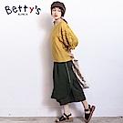 betty's貝蒂思 典雅袖身微簍空刺繡上衣(黃色)
