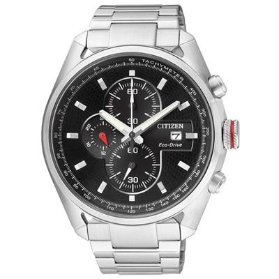 CITIZEN 創新思維三環運動腕錶-銀黑-43mm