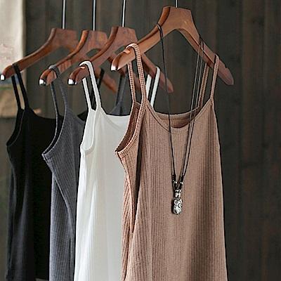 純棉針織吊帶背心內搭防走光外穿上衣-設計所在