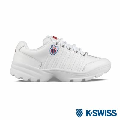 K-SWISS Altezo P復古老爹鞋-男-白/紅/藍