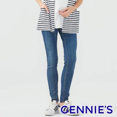 Gennies奇妮-超顯瘦美型涼感牛仔褲-藍(T4H17)