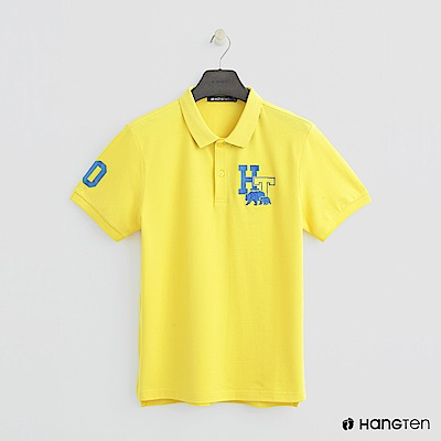 Hang Ten - 男裝 -logo刺繡POLO杉-黃