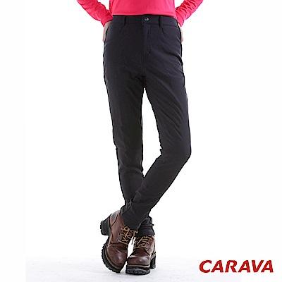 CARAVA 女款美型顯瘦軟殼保暖褲(黑)