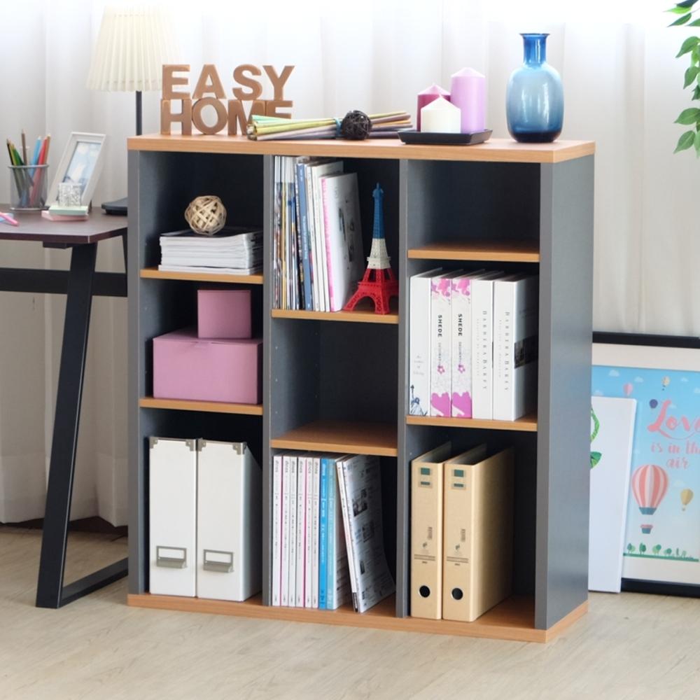 【EASY HOME】加厚開放式九格收納書櫃-87.2*29.5*93.6CM-DIY