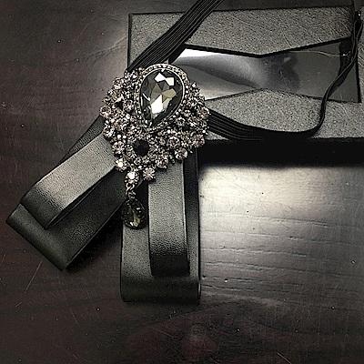 拉福 領花朝代大黑鑽超亮鑽領花新郎領結