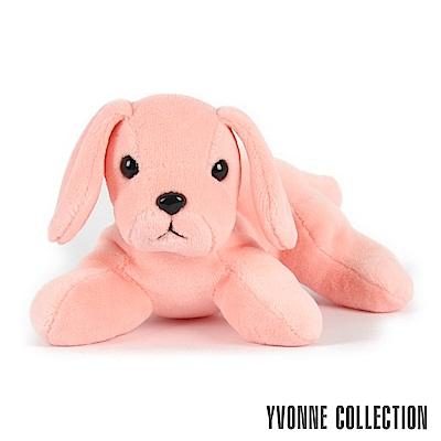 Yvonne Collection 趴趴狗玩偶-粉橘紅