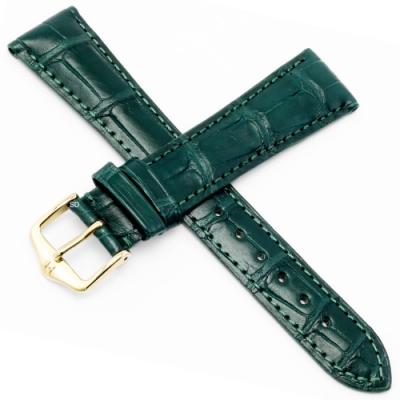 海奕施 HIRSCH London L鱷魚皮手錶帶-深綠
