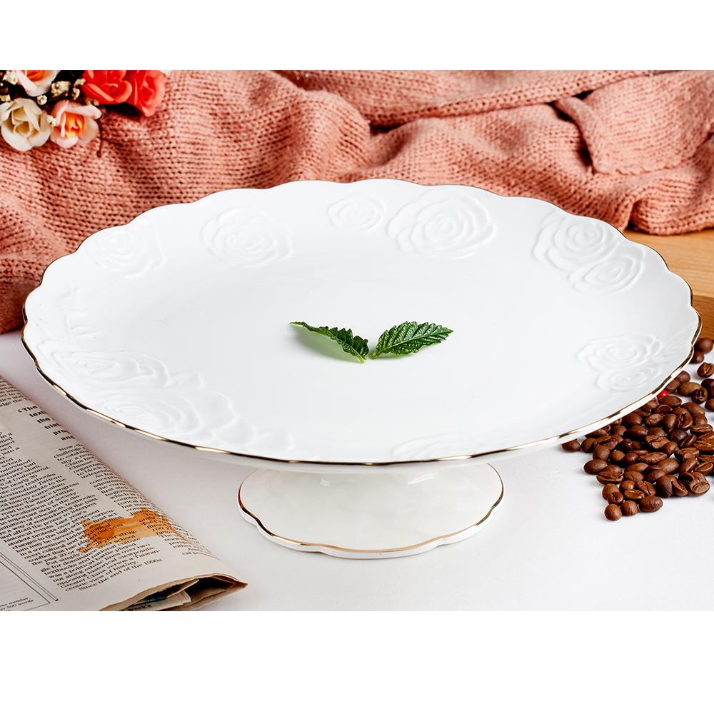 Royal Duke 典藏玫瑰高腳水果缽/點心蛋糕盤(典雅英式風格)