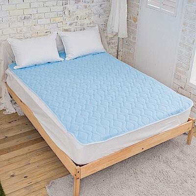 La Lune  歐盟環保規章Ni-Cool抗菌吸濕涼感水晶紗雙人加大保潔墊 優雅藍
