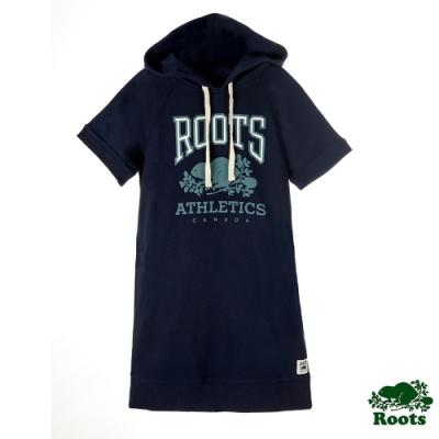 女裝 Roots RBA 連帽洋裝-藍