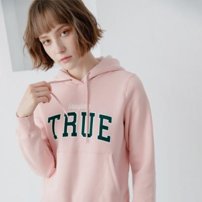 GIORDANO 女裝 Dreamers系列復古風連帽T恤-09 銀粉紅