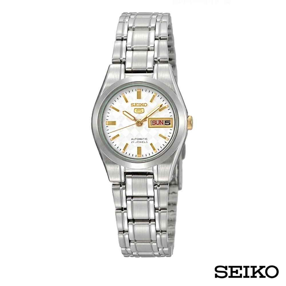 SEIKO 不銹鋼自動機械機芯女錶-SYMH17J1