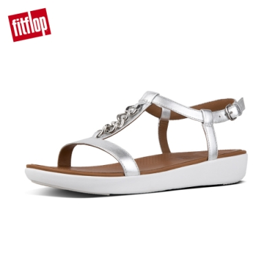 FitFlop LANA CHAIN LEATHER BACK-STRAP 銀色