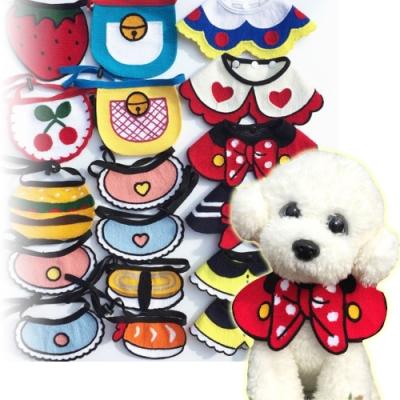 dyy》寵物手工編織配飾三角巾|領巾
