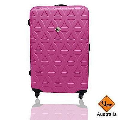 花花系列 / 28吋 / ABS輕硬殼行李箱《 GATE 9 》桃紅色