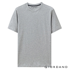 GIORDANO 男裝百搭素色圓領T恤-02 中花灰