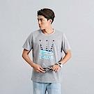 DADA SUPREME 美國國旗LOGO T-shirt-男-麻灰