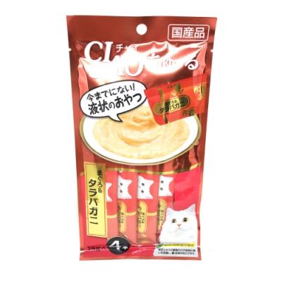 日本 CIAO 啾嚕燒肉泥 SC-108 鮪魚&帝王蟹風味 14g*4入