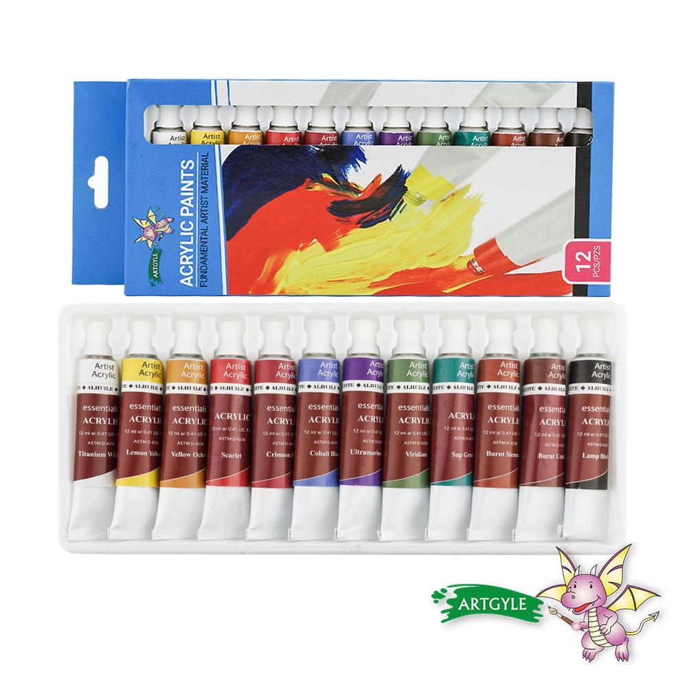 美國ARTGYLE 12色壓克力顏料繪畫組(12ml)